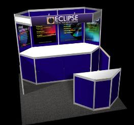 Portable Trade Show Displays Large Format Graphics Booth